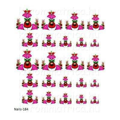 a3f3455cfb Kalocsai minta körömmatrica Nails-184